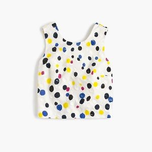 J Crew Collection clip dot top 0 F2253